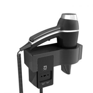 wandhaardroger alteo S zwart 115/230V