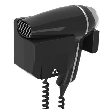 wandhaardroger clipper II frontal zwart