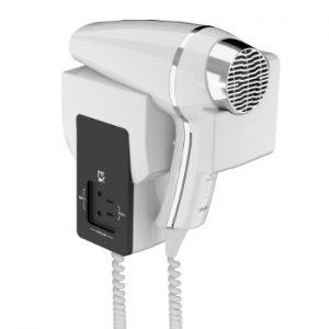 wandhaardroger clipper II S frontal wit 115/230V