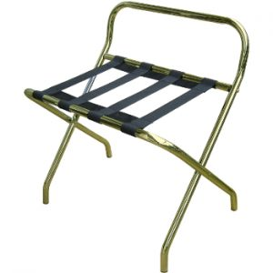 bagagerek rack métal met steun verguld