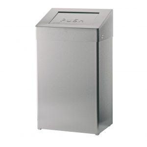 brandveilige afvalbak 50l rvs