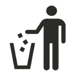 papieren handdoekjes afval