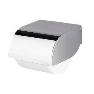 toiletrolhouder met geruisloze klep chroom