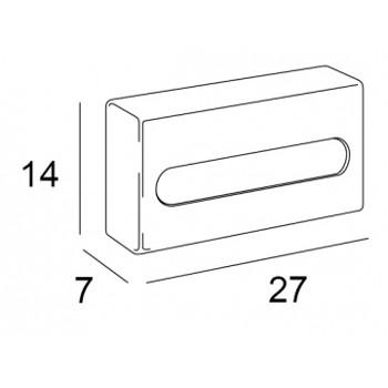 wand tissue box chroom
