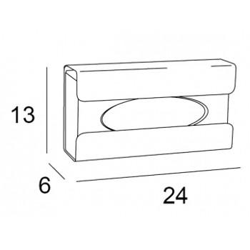 wand tissue box houder chroom tekening