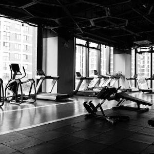 stof in de fitnessruimte